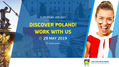 "EUROPEJSKIE TARGI PRACY ON-LINE PN. ""DISCOVER POLAND ! WORK WITH US"""
